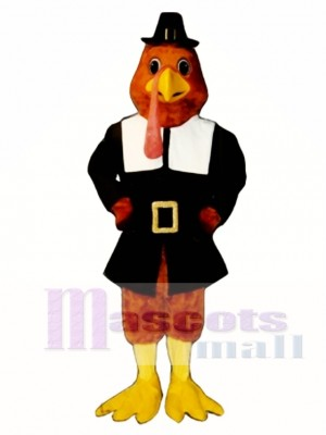Cute Tom Gobble Turkey Mascot Costume Poultry