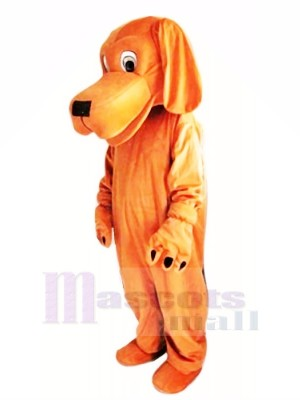 Brown Dog with Long Ears Mascot Costumes Cartoon