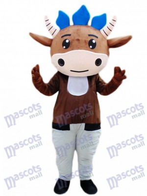 Brown Cattle Calf Mascot Costume Cartoon