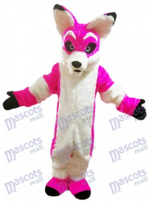 Pink Husky Dog Fox Mascot Costume Cartoon