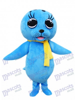 Blue Sea Lion Seal Mascot Costume Ocean