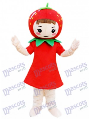 Strawberry Girl Mascot Costume Fruit