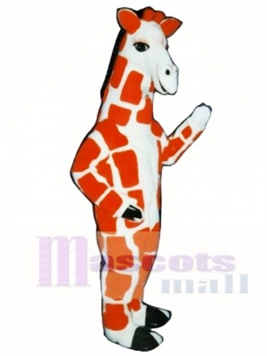 Red Giraffe Mascot Costume Animal