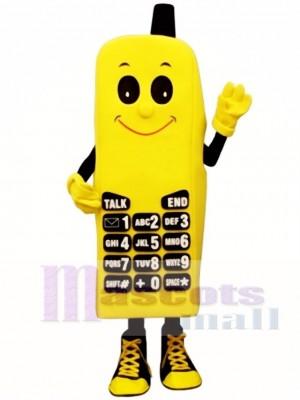 Yellow Phone Mascot Costume
