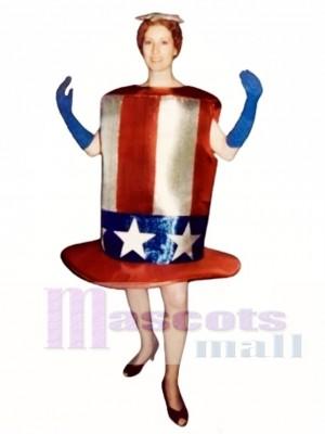 Cute Star-Spangled Hat Mascot Costume
