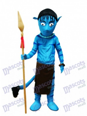 Blue Alien Appa Avatar Mascot Costume