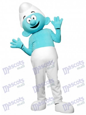 Blue Smurfs Mascot Costume Cartoon Anime