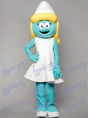 Blue Smurfs Smurfette Mascot Costume Cartoon Anime