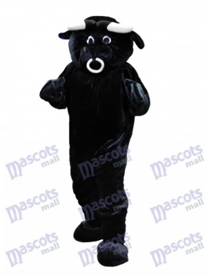 Black Bull Mascot Funny Costume