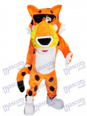 Orange Chester Cheetah Mascot Costume Animal