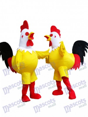 Yellow Cock Rooster with White Head Mascot Costume Animal