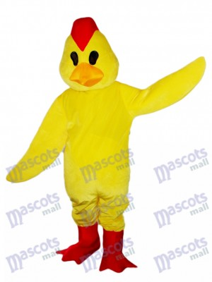 Yellow Chick Rooster Cock Mascot Costume Animal