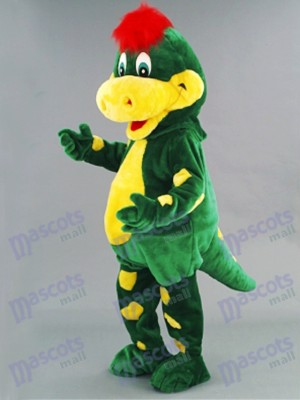 Green Dino Dinosaur Mascot Costume Animal