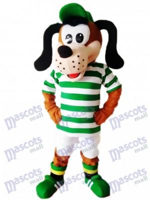 Cute Dog in Striped Shirt Mascot Costume Animal