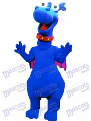 Cute Blue Dragon Stuffy Mascot Costume Animal