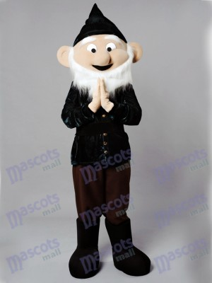 Dwarf Mascot Costume in Black Suit& Hat Cartoon Anime