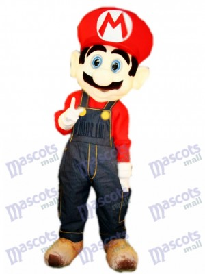 Famous Plumber Red Mario Mascot Costume