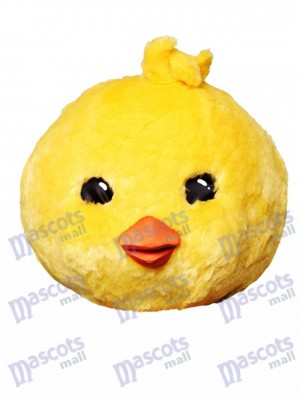 Fantasy Yellow Chicken Mascot Head Only Animal