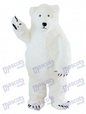 White Polar Bear Mascot Costume Animal