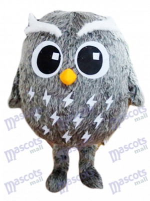 Grey Owl Mascot Costume Bird Animal