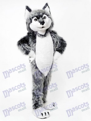 Gray Wolf Mascot Costume Animal