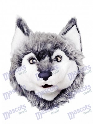 Gray Wolf Mascot Head Only Animal