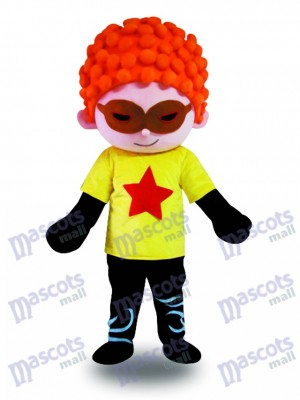 Red Hair Cool Boy Mascot Costume Cartoon