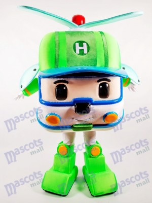 Green Robotic Car Mascot Costume Cartoon