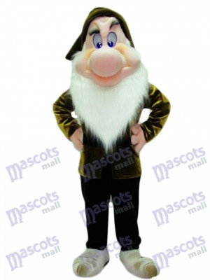 Grumpy Grumbling Dwarf Mascot Costume Cartoon Anime
