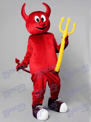 Halloween Red Evil Devil Mascot Costume Cartoon Anime