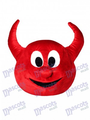 Halloween Red Evil Devil Mascot HEAD ONLY Cartoon Anime
