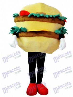 Hamburger with Cheese Mascot Costume Food
