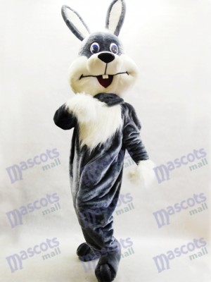 Gray Bunny Easter Rabbit Hare Mascot Costume Animal
