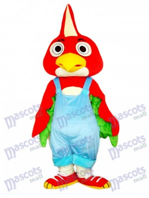 Red Parrot Bird Mascot Costume Animal