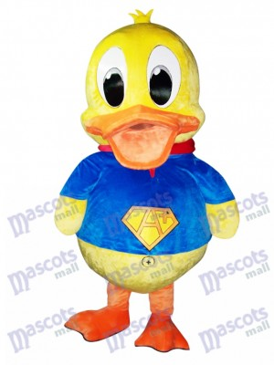 Blue Suit Duck Mascot Costume Animal