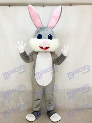 Grey Easter Bunny Rabbit Mascot Costume Animal