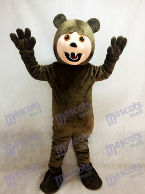 Dark Brown Grizzly Bear Mascot Costume