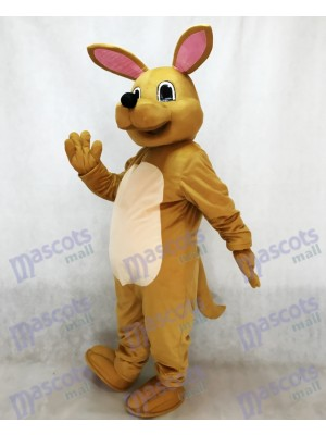 Cute Tan Kangaroo Mascot Costume Animal