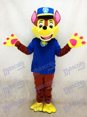 Paw Patrol Chase Dog Mascot German Shepherd Puppy Spy Dog Costume