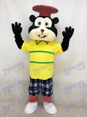 New Golfing Gopher in Yellow Shirt Mascot Costume