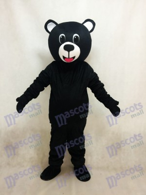 New Black Lucky Bear Mascot Costume