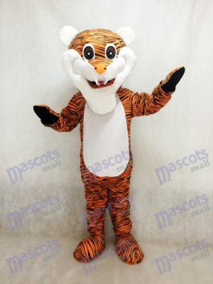 Reddish Brown Stripe Tiger Adult Mascot Costume Animal