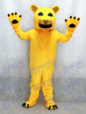 New Yellow Cougar Mascot Costume Animal