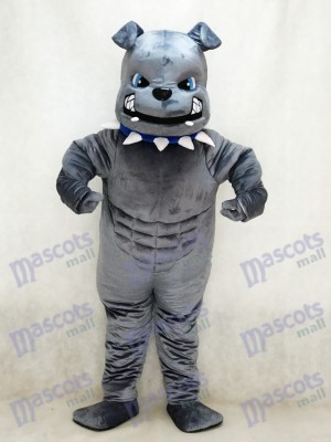 New Grey Bulldog Mascot Costume Animal