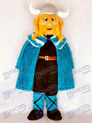 New Thor the Giant Viking Mascot Costume with Blue Cloak