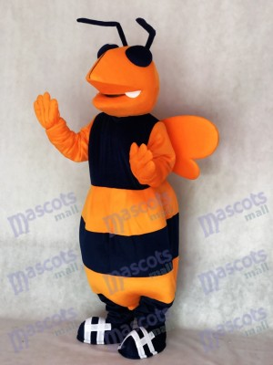 Orange and Navy Blue Adult Hornet Bee Mascot Costume