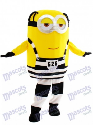 Smiled Minion in Prison Despicable Me Mascot Costume Cartoon