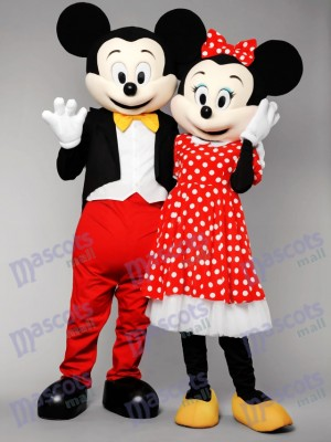Mr Mickey Mouse and Mrs Minnie Mouse Mascot Costumes Anime