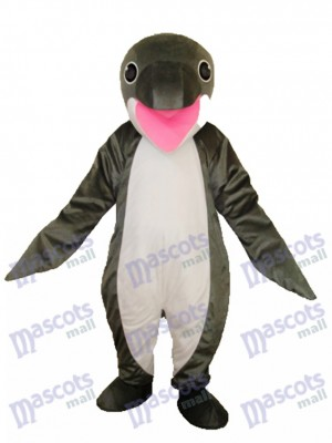 Grey Penguin Mascot Adult Costume Ocean