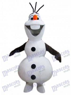 Frozen Olaf Snowman Mascot Costume Cartoon Character Halloween Christmas